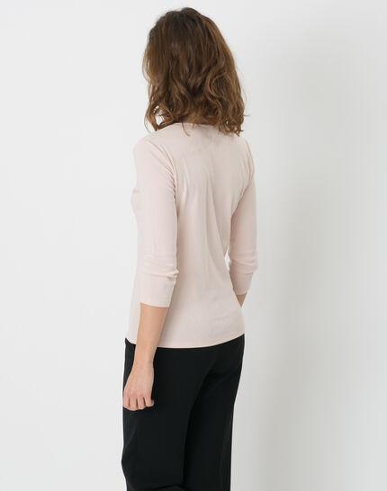 Pale pink T-Shirt with diamanté neckline (4) - 1-2-3