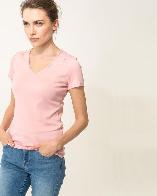 Tee-shirt rose poudre Largo (2) - 1-2-3