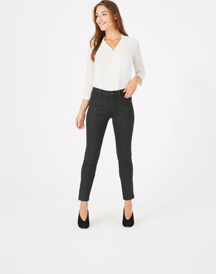Pia black 7/8 length coated trousers (3) - 1-2-3