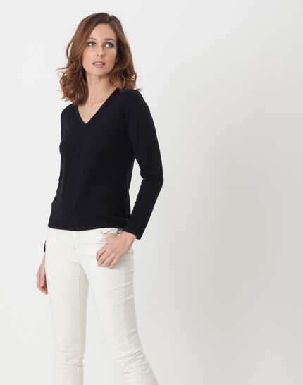 Heart black cashmere sweater (2) - 1-2-3