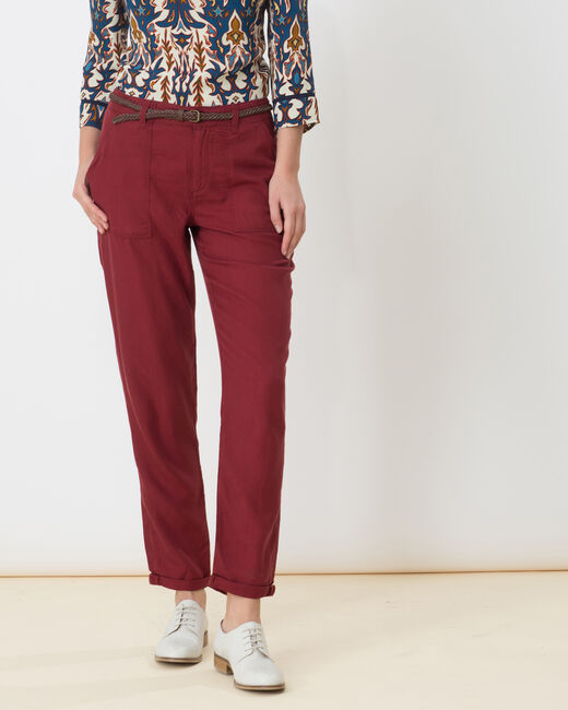 Pantalon chino rouge tomette Dana (1) - 1-2-3