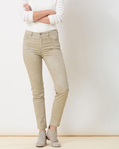 Pantalon beige imprimé Oliver (2) - 1-2-3
