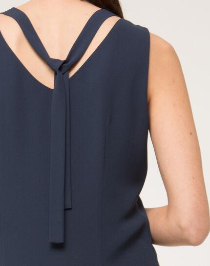 Felicie blue dress with diamanté neckline (5) - 1-2-3
