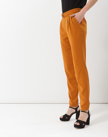Douguy ochre tapered cut trousers (5) - 1-2-3