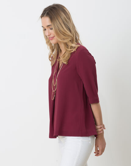 Elvire blackcurrant shirt with necklace (4) - 1-2-3