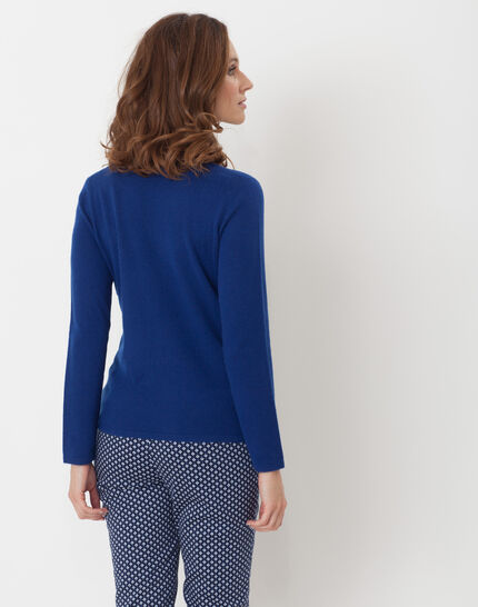 Heart dark blue cashmere jumper (4) - 1-2-3