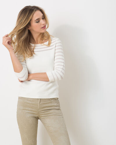 Pull blanc ajouré Hypnose (2) - 1-2-3