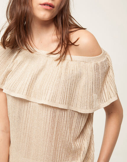 Holiday golden top with wide frilled design (5) - 1-2-3