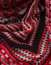 Samson red printed scarf red.