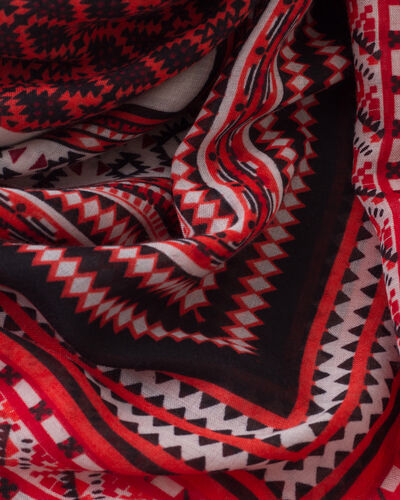 Samson red printed scarf (2) - 1-2-3