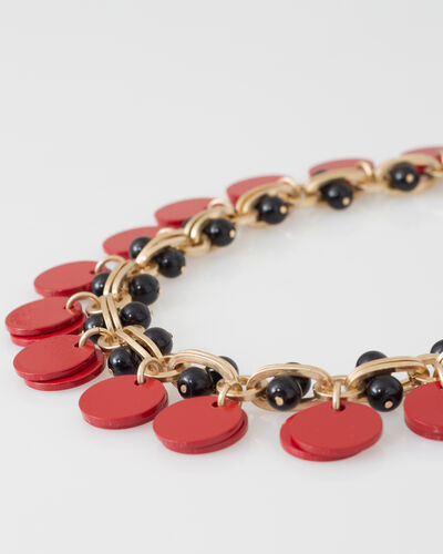 Wanda red and black beaded necklace (2) - 1-2-3