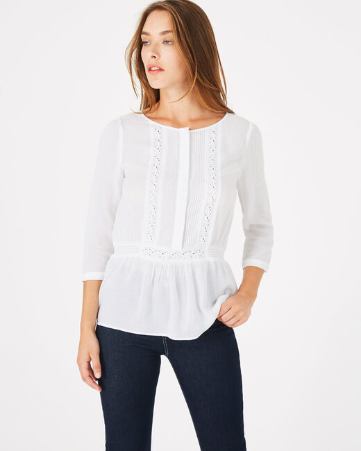 Dana ecru blouse with embroidery (1) - 1-2-3