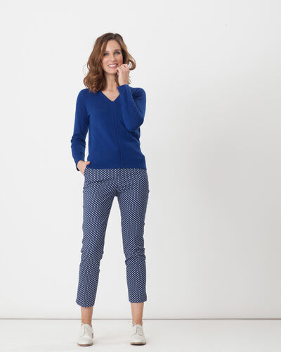 Rumba blue tailored jacket with polka dots (1) - 1-2-3