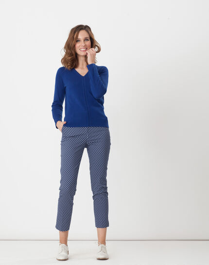 Rumba blue tailored jacket with polka dots (2) - 1-2-3