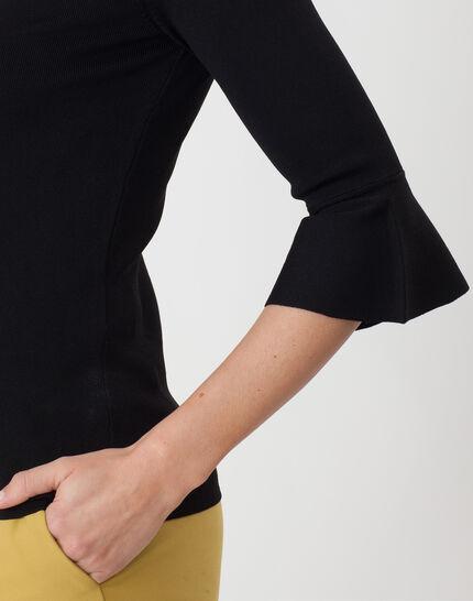 Hesmerelda black sweater with flared sleeves (2) - 1-2-3
