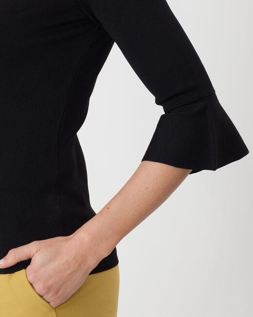 Pull noir manches évasées Hesmeralda (2) - 1-2-3