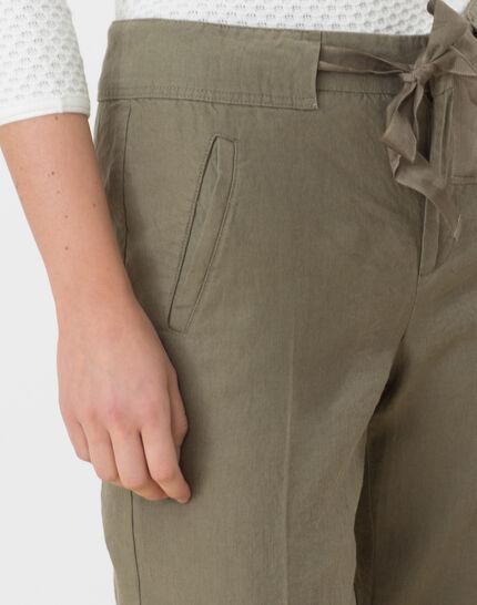 Dolly wide-cut khaki linen trousers (5) - 1-2-3
