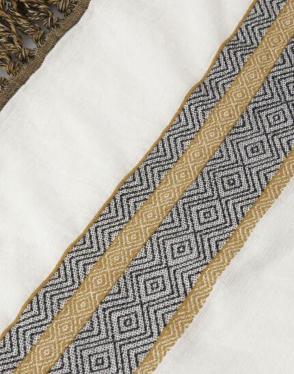 Sign saffron printed scarf (3) - 1-2-3