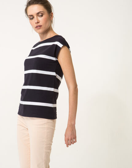 Tee-shirt rayé bleu marine Nil bis (3) - 1-2-3