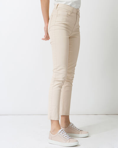 Oliver 7/8 length coated powder pink trousers (2) - 1-2-3
