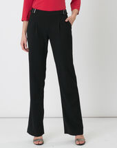 Rythme black trousers with buckle at the belt black.