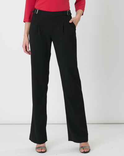 Rythme black trousers with buckle at the belt (2) - 1-2-3