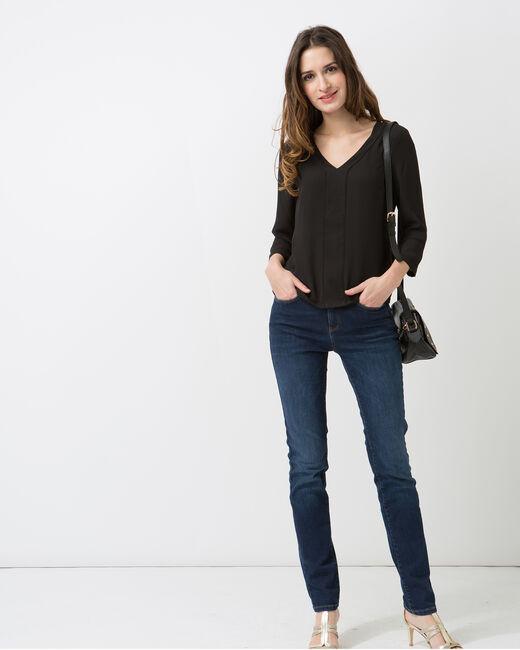 Tee-shirt noir col V Nuage (1) - 1-2-3