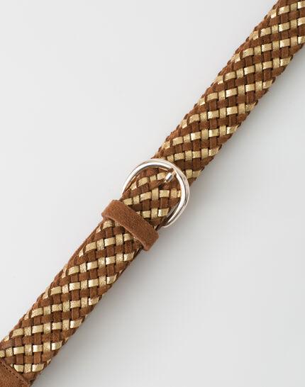Yael camel braided leather belt PhotoZ | 1-2-3