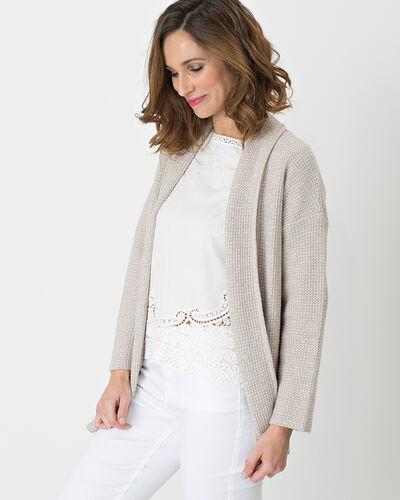 Gilet gris pâle façon veste Hirise (2) - 1-2-3