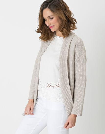 Hirise pale grey jacket-style cardigan PhotoZ | 1-2-3