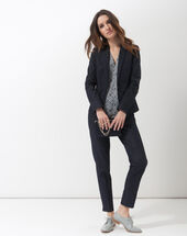 Aurore denim tailored jacket dark indigo.