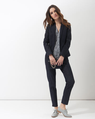 Aurore denim tailored jacket (1) - 1-2-3