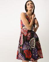 Flirt printed dress geranium.