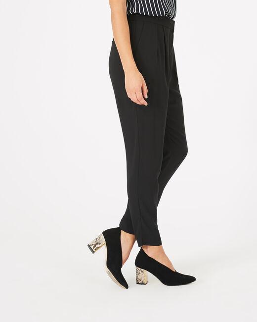 Pantalon noir en crêpe Daria (1) - 1-2-3
