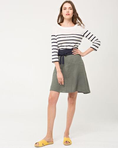 Clairon khaki linen skirt (2) - 1-2-3