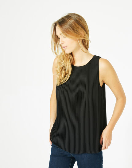 Erica pleated black top (4) - 1-2-3