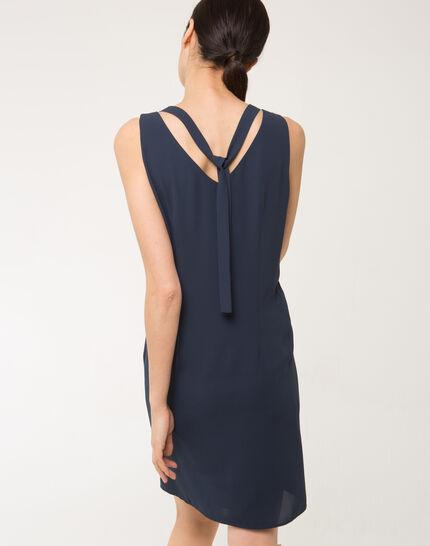 Felicie blue dress with diamanté neckline (4) - 1-2-3