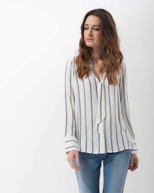 Eddie striped shirt with tie collar (1) - 1-2-3