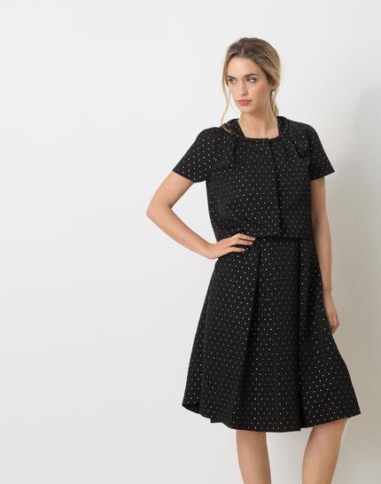 Limoncello black bolero with shiny polka dots PhotoZ   1-2-3