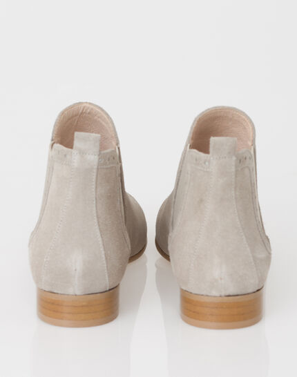 Jeanne taupe boots in suede (3) - 1-2-3