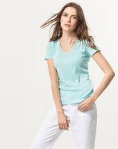 Largo sky blue t-shirt ice green.