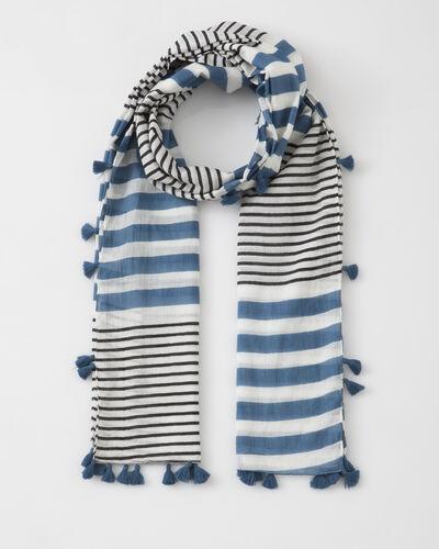 Foulard bleu rayé en coton Sailor (1) - 1-2-3
