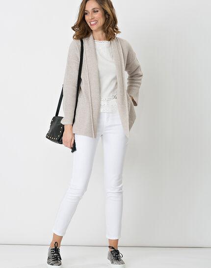 Hirise pale grey jacket-style cardigan (2) - 1-2-3