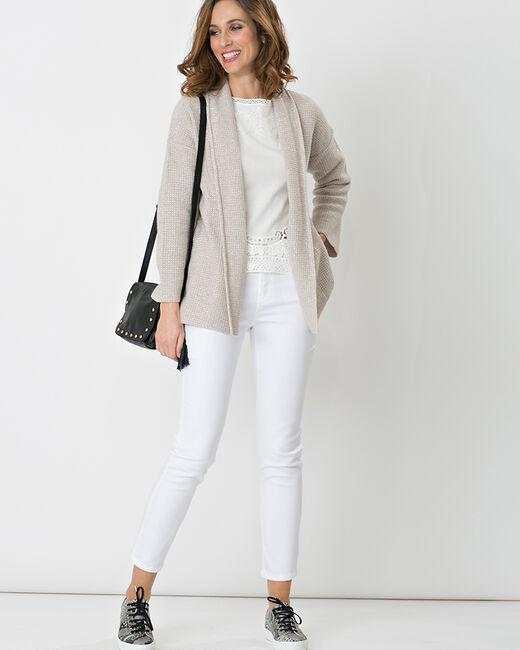 Gilet gris pâle façon veste Hirise (1) - 1-2-3