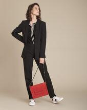 Lara slim-cut tailored black trousers black.