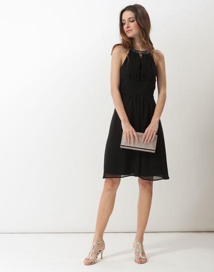 Scarlet bis black dress with Swarovski-embellished neckline (2) - 1-2-3