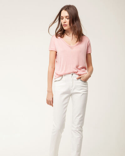 Hope pale pink short-sleeved sweater (2) - 1-2-3