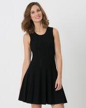 Bergame black knitted dress black.