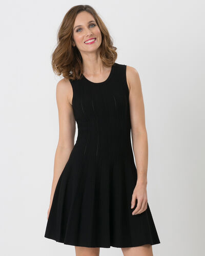 Bergame black knitted dress (1) - 1-2-3
