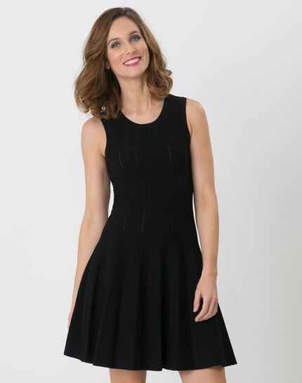 Robe noire en maille Bergame PhotoZ | 1-2-3